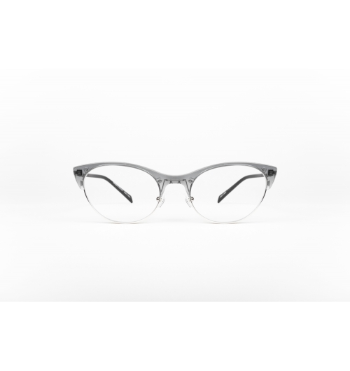nine origin #2735 Limited Edition - Combination optical frame, made from original Japanese acetate and grade 2 medical Titanium eye wire in combination with lasercut temples from 0.7 mm Beta Titanium to ensure flexibility and optimal comfort.  In order to obtain maximum flexibility and lightness, temple sleeves made from natural rubber are used to ensure optimal fit without leaving any marks on the wearer. The hand polished brow bar is made from original Japanese produced acetate, created using natural cellulose obtained from wood as a raw material. This special kind of acetate is environmentally friendly and has excellent touch feeling (skin texture) peculiar to cellulose plastic. The beauty of the finished products and deep color patterns are created because they are materials with other flavors and features, that cannot be managed with other petroleum based plastics. For the finishing touch we have used Palladium and 24 kt. gold plating on all Titanium parts for the best feel on this extremely lightweight luxury product.