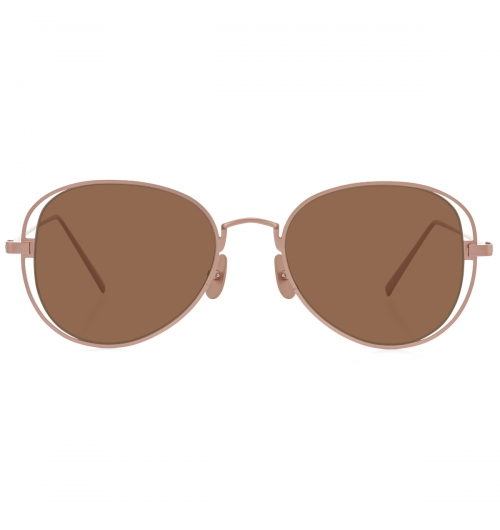 BELL - An Aviator-shaped sunglasses model created with titanium. Featuring room between the lens and endpieces, BELL is definitely a one-of-a-kind pair of sunglasses.   27g / TITANIUM