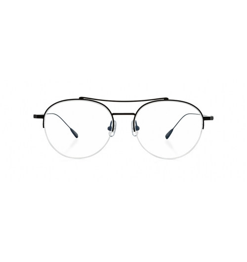 ROBBER - Robber is a full metal frame with semi-rimless and two bridge optical model. Curved bridge on the top part, and straight bridge give a balanced look.